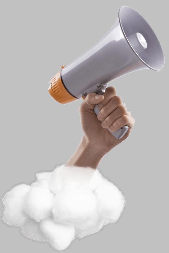 zvýšení povědomí megafon